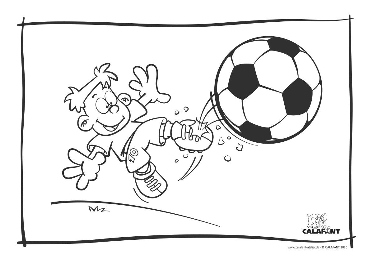 Calafant Ausmalbild Fussball