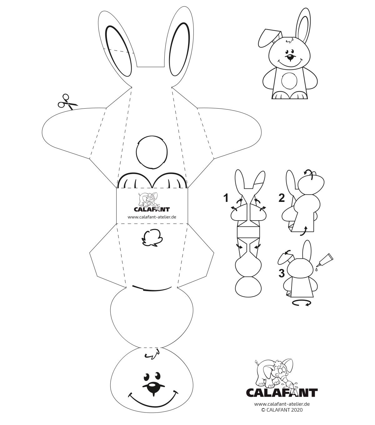 Bastelbogen Kaninchen